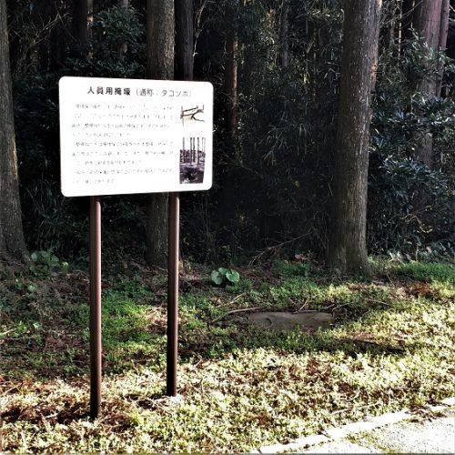 南九州市知覧町に残る「掩壕跡」