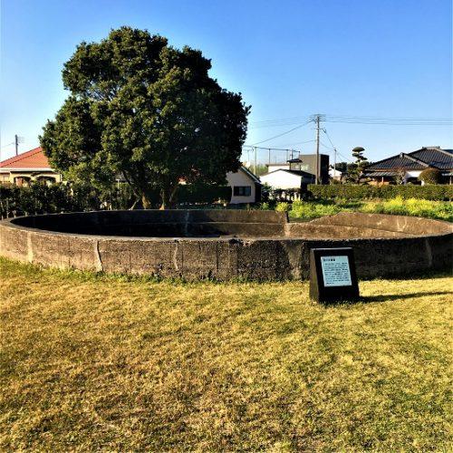 南九州市知覧町に残る「防火水槽跡」