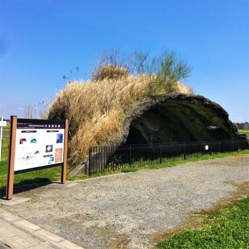 鹿屋市川東町に残る「川東掩体壕」