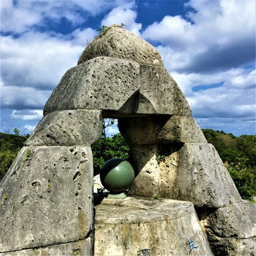 渡嘉敷島にある「アリラン 慰霊のモニュメント」