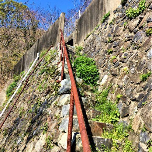 周南市大津島に残る「地獄の階段」