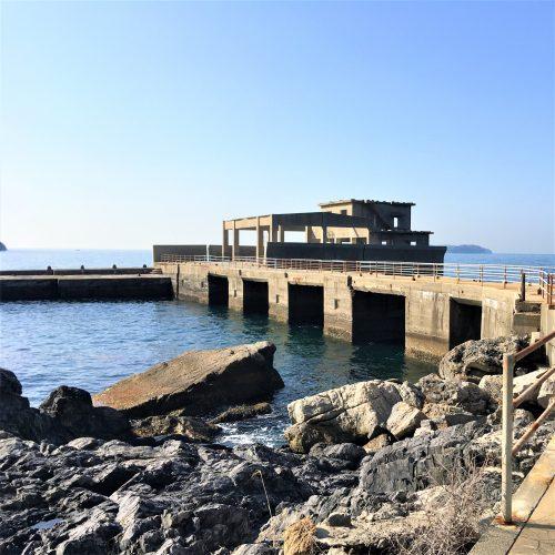 周南市大津島に残る「訓練基地跡」